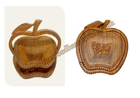 Wooden Apple Shape Spring Basket
