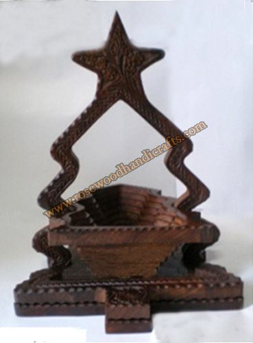 Wooden Tree Shape Single Compartment Spring Basket