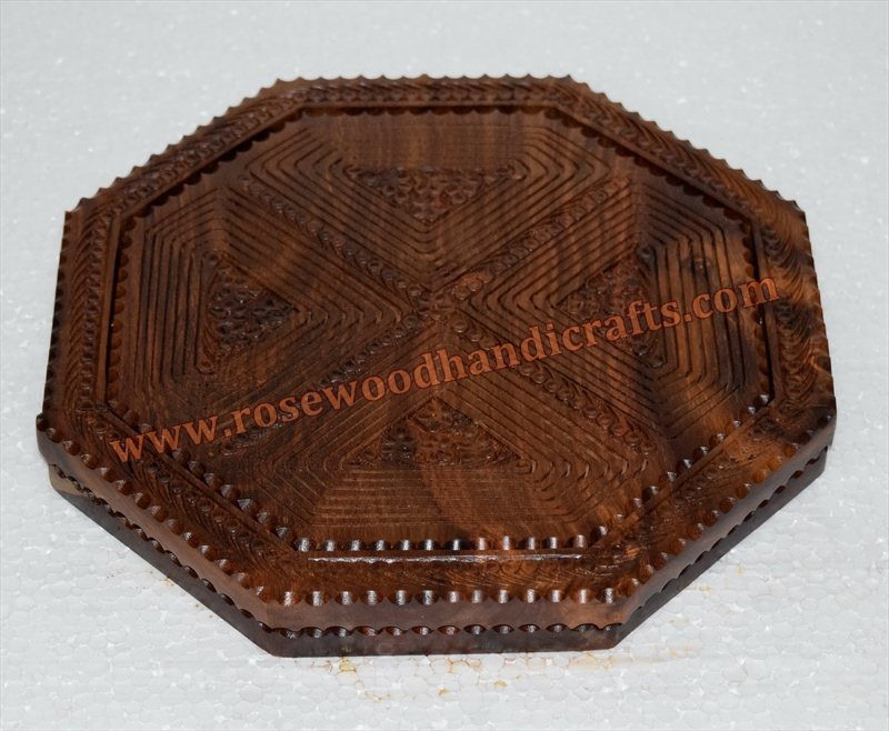Wooden Octa Shape 4 Compartments Collapible Bowl