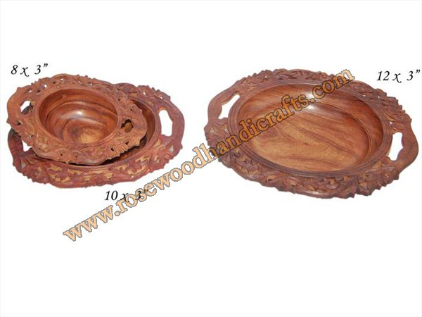 Wooden Full Carved Plates