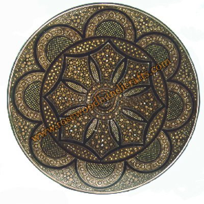 Wooden Lacquer Engraved Plate