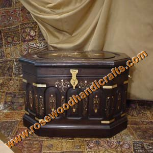 Wooden Jewelry Storage Chest