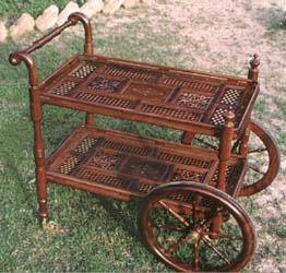 Wooden Two Flappers Tea Cart