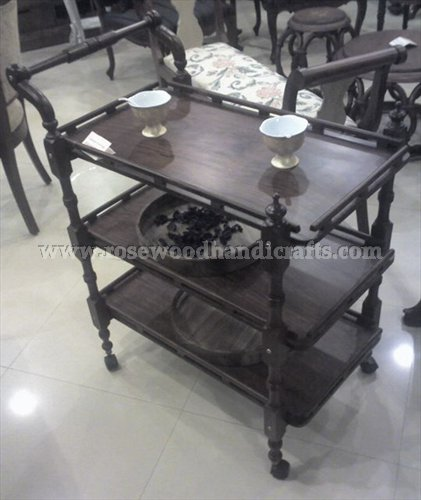 Tea Cart 3 Flappers With Black Color