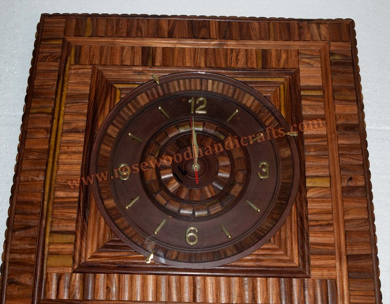 Wooden Square Shape Wall Clock
